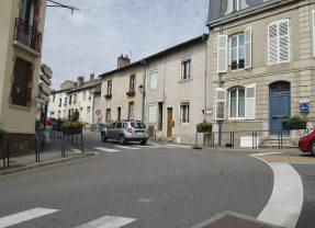 Travaux au carrefour de la rue de l'Orme avec les rues de l'Eglise et Driant