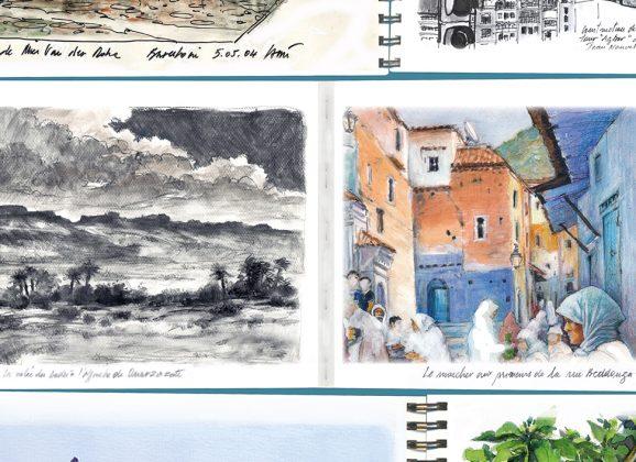 Exposition «Carnets de voyages» de Gérard Lami